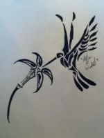 humming bird tribal by awiede02