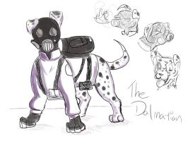 TF2 Dogs: The Dalmatian by AnimeAntie