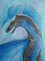 Shimmers of Blue by LabradoriteWolf