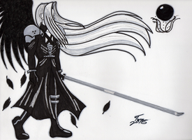 Sephiroth B/W by Amalthea16
