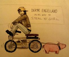 Deryk Engelland on his way to steal your girl 1 by zombiepencil