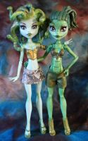 Monster High Gorgon sisters by redmermaidwerewolf