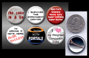 "Portal 1"" pinback buttons by eitanya"