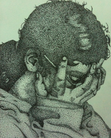 Stippling Self Portrait by zarhx