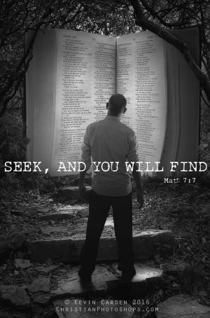 Seek and you will find by kevron2001