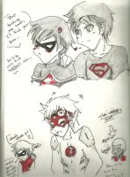 Young Justice Doodles by Kurofaikitty