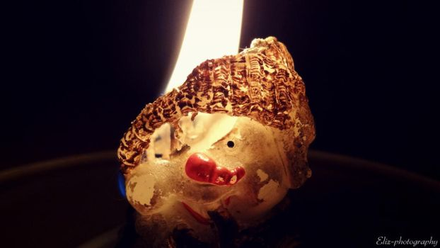 Snowman in fire by Eliz-photography
