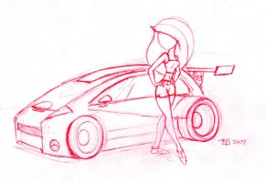 KP New Car Prelim Sketch by SFToon