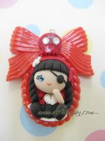Polymer Clay cameo kawaii by AlchemianShop