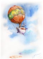 Animals in Balloon by CheshFire