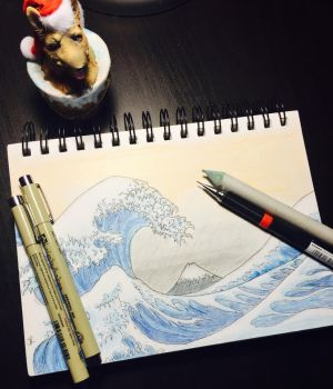 The Great Wave Off Kanagawa by sandypickle