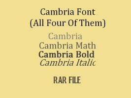 Cambria Font by wonderlandrainbow