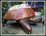 Paper mache  tortoise. by Moodlight14