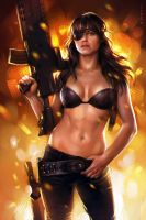 Michelle Rodriguez (study) by sharandula