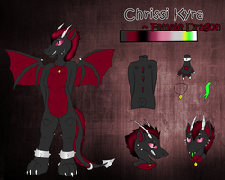 Reference for my Fursona Chrissi by CKittyKat98