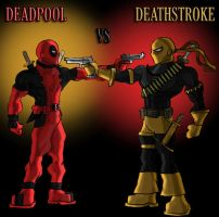 Deadpool vs Deathstroke by Jerem6401