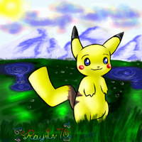 A Pikachu by AellaiKim