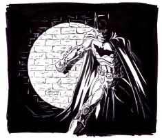 Batman in the spotlight by StevenWilcox