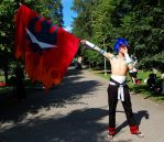 TTGL Kamina Cosplay 5. by Elffi