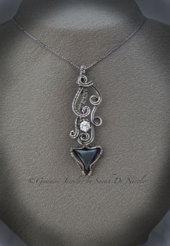Black and white CZ Pendant by ChatNoir13