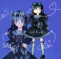 Chibi + Waist-up Combo 01 ( closed | auction ) by Berri-Adoptable