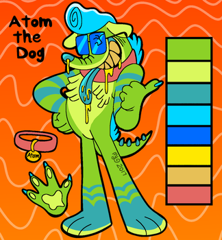 Atom The Dog ref by Angry-Baby
