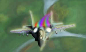 MiG 29 Rainbow Dash-ified. by TatterTailArt