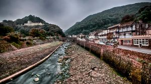 Lynton Tidal river by CharmingPhotography