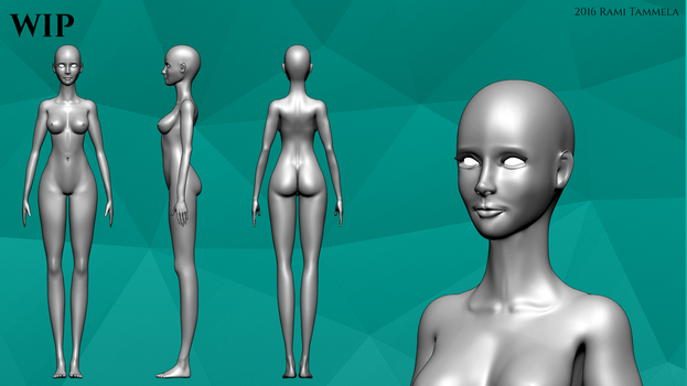 Female Character Base - WIP 01 by RamiT95