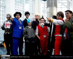AX 2014: The Men of Ace Attorney by KatyMerry