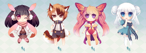 Another Adoptable Set [CLOSED] by Andreia-Chan