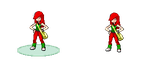 Pokemon Amber And Jade Girl Trainer Sprite by nugget9productions