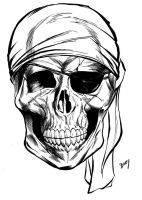 Pirate Skull commission by dfbovey