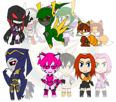 Assorted Chibis - Evil or Just Misunderstood by Dragon-FangX