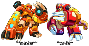 Slother and Magma Slother Comparison by ultimatemaverickx