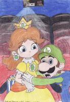 Luigi and Daisy on a date by Boltonartist