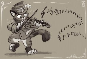 The Cat and the Fiddle by pupukachoo
