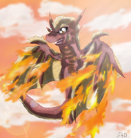 Burning Wings by SuperSonicFireDragon