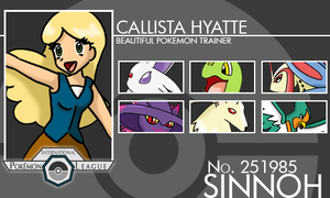 Trainer Card - Callista by lostangels22
