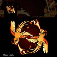 Woot Shirt - Burning Phoenix by fablefire
