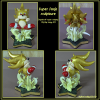 Super Sonic Sculpture by Blue-Sonikku