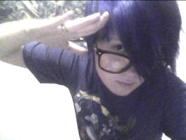 Self portrait...with blue hair! xD by TheForgottenQueen