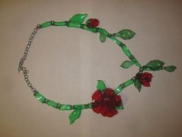 Rose Necklace by recycledrapunzel