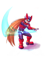 Megaman Tribute Zero by Matt-Senshi