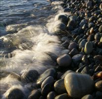 water and stones by Umbrella-Lenore