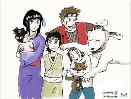 KibaHina family by Ziannna