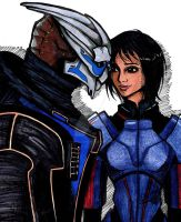 Shepard and Garrus by TobiasLaFae