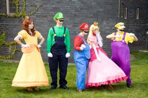 Amecon 2012 Super Mario Bro group by Mangamad