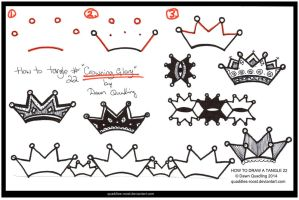 How Tangle 22  Crowning Glory quaddles-roost by Quaddles-Roost