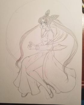 Sailor Moon Black Lady WIP by TinyfoxTrot